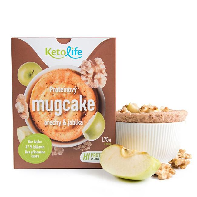 Zobrazit detail výrobku KetoLife Proteinový mugcake - Ořechy a jablka 175 g