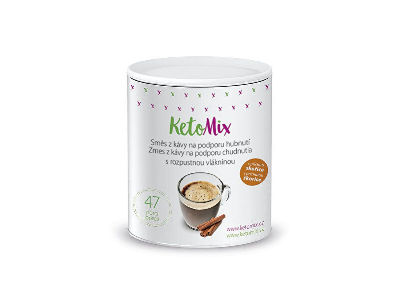 Zobrazit detail výrobku KetoMix Instantní káva na podporu hubnutí s příchutí skořice 94 g