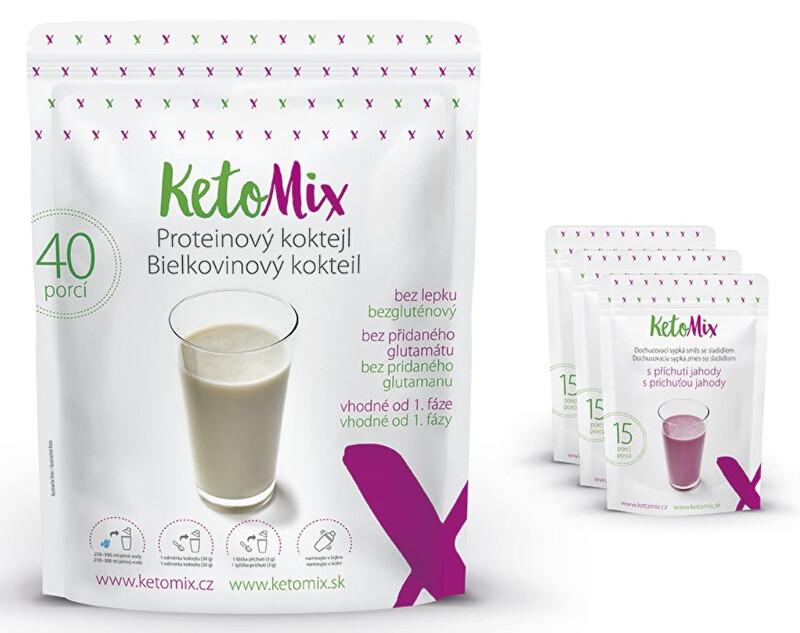 Zobrazit detail výrobku KetoMix Proteinový koktejl KetoMIX 1200 g (40 porcí) (káva, lesní plody a kokos)