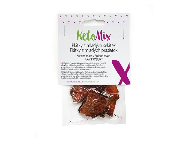 Zobrazit detail výrobku KetoMix Sušené maso – plátky z mladých selátek 25 g (1 porce)