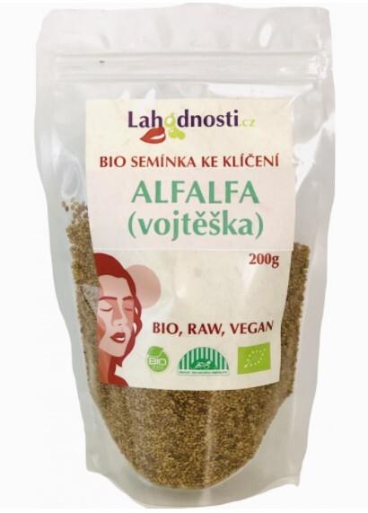 Zobrazit detail výrobku Lahodnosti Alfalfa (vojtěška) BIO - semínka ke klíčení 200 g