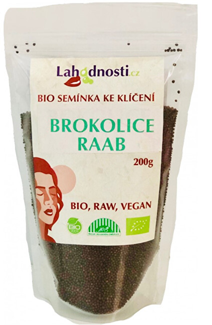 Zobrazit detail výrobku Lahodnosti BIO Brokolice Raab, semínka ke klíčení 400 g