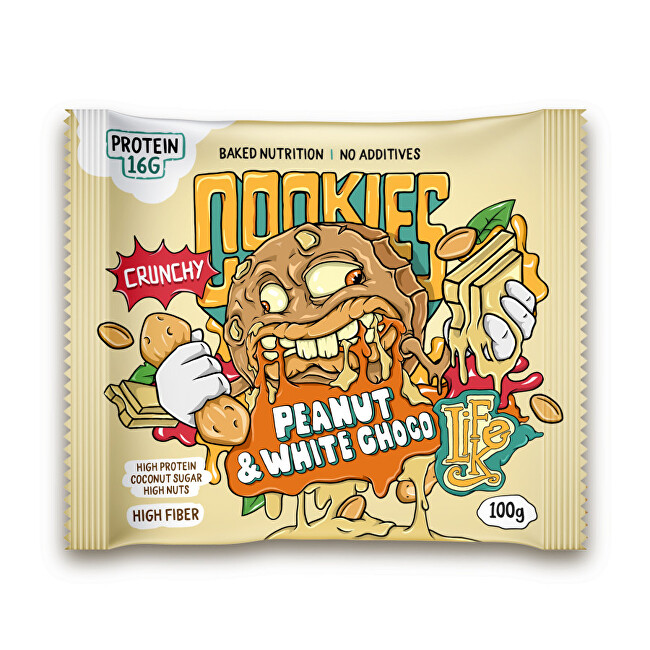 Zobrazit detail výrobku Lifelike Food Cookies peanut and white chocolate 100 g