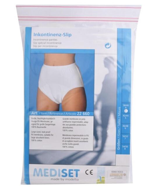 Zobrazit detail výrobku Mediset Inkontinenční pánské kalhotky s širokým měkkým gumovým pasem a velkou nepropustnou PU - membránou 4