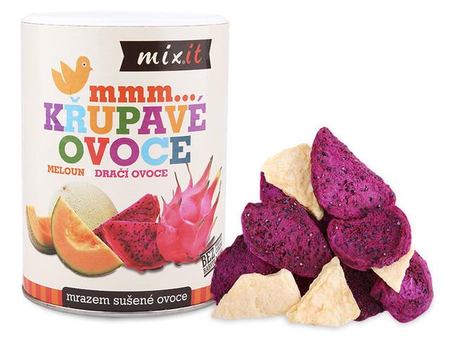 Zobrazit detail výrobku Mixit Dračí ovoce Meloun - Křupavé ovoce 80 g