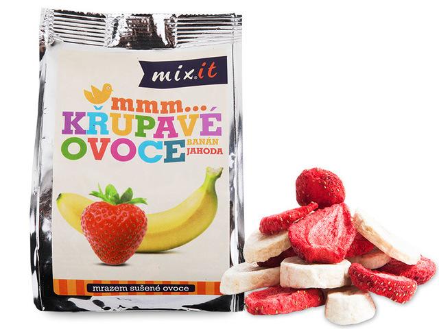 Mixit Křupavé ovoce do kapsy- Banán + jahoda 1 ks, 23 g