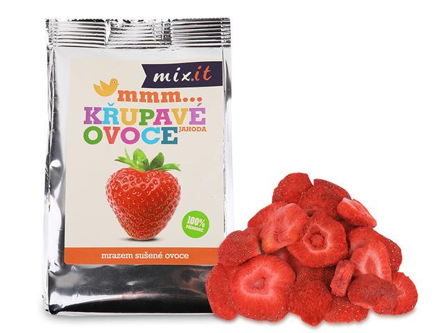 Zobrazit detail výrobku Mixit Křupavé ovoce do kapsy - Jahoda 1 ks, 13 g