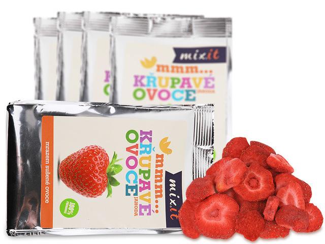 Zobrazit detail výrobku Mixit Křupavé ovoce do kapsy - Jahoda 13 g