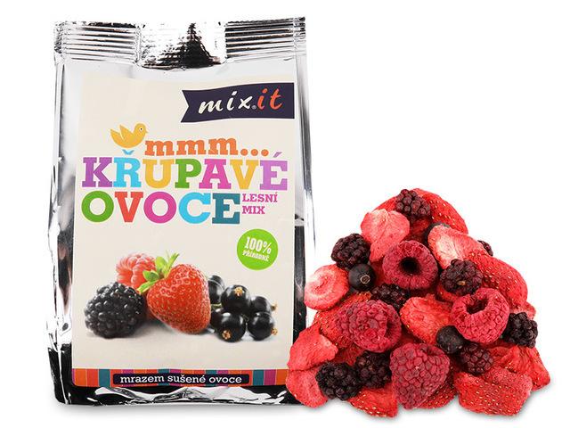 Zobrazit detail výrobku Mixit Křupavé ovoce do kapsy - Lesní mix 1 ks, 20 g