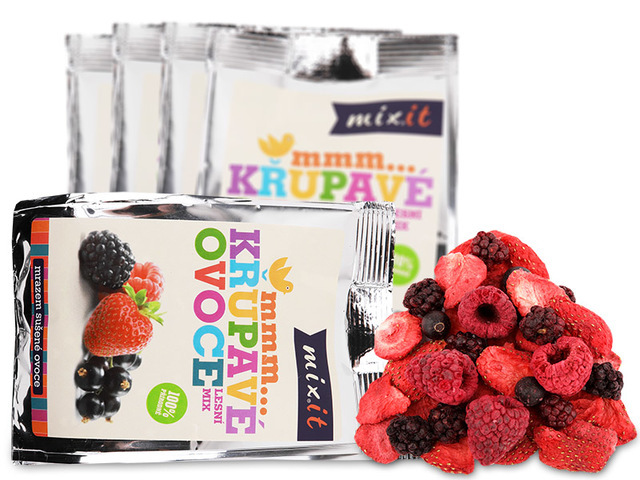 Zobrazit detail výrobku Mixit Křupavé ovoce do kapsy - Lesní mix 20 g