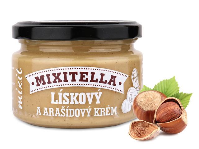 Zobrazit detail výrobku Mixit Mixitella - Lískové ořechy & arašídy 250 g
