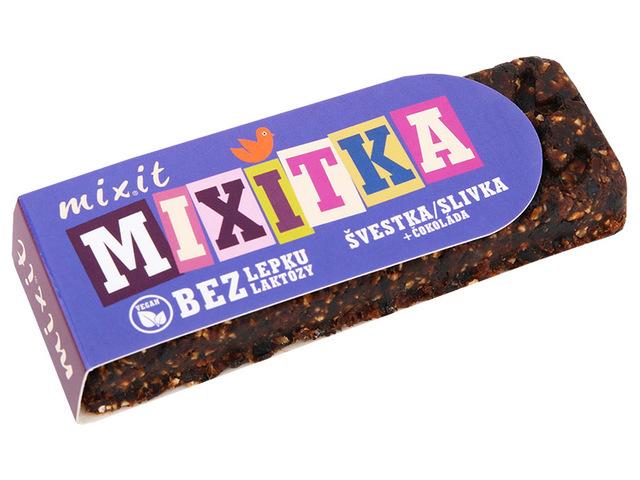 Zobrazit detail výrobku Mixit Mixitka BEZ LEPKU- Švestka + čokoláda 50 g