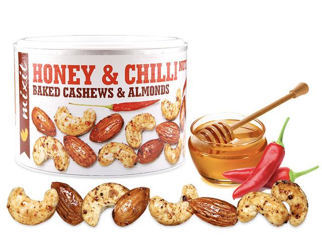 Zobrazit detail výrobku Mixit Oříšky z pece - med a chilli 140 g