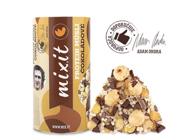 Zobrazit detail výrobku Mixit Proteinové müsli Adama Ondry s čokoládou 450 g