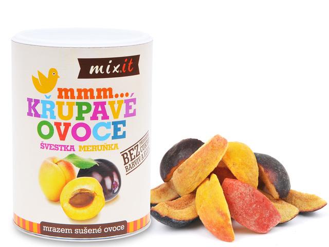 Zobrazit detail výrobku Mixit Švestka, meruňka - Křupavé ovoce 65 g