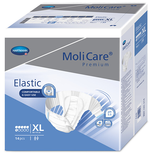 Zobrazit detail výrobku MoliCare MoliCare Elastic 6 kapek XL 14 ks