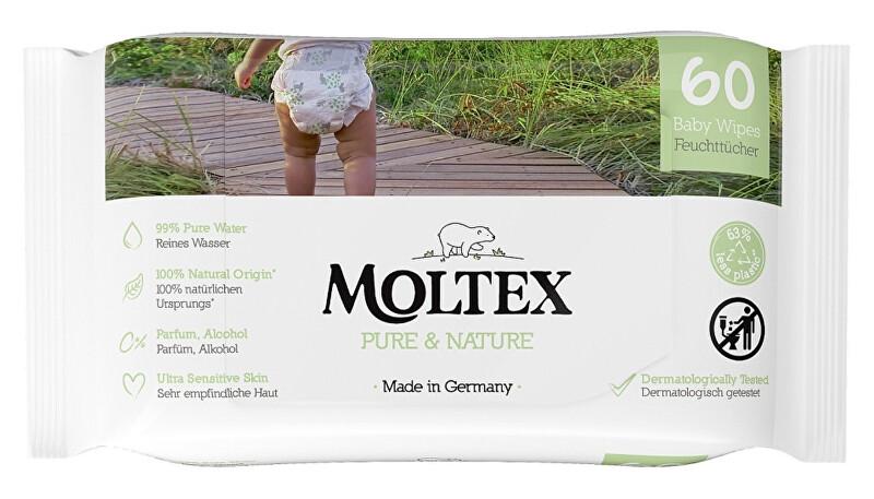Zobrazit detail výrobku Moltex Pure & Nature EKO vlhčené ubrousky Moltex Pure & Nature na bázi vody 60 ks