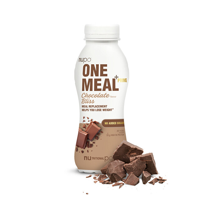 Zobrazit detail výrobku NUPO ONE MEAL + PRIME hotový nápoj Chocolate Bliss 372 g