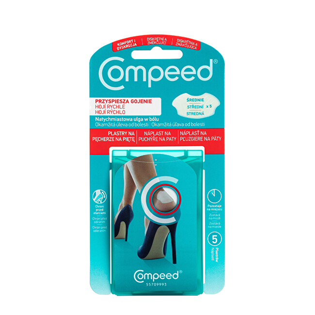 Zobrazit detail výrobku Compeed Náplast na puchýře na paty 5 ks