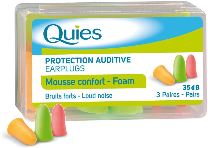 Zobrazit detail výrobku QUIES QUIES Pěnové chrániče sluchu (3 páry)