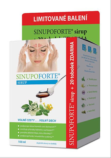 SINUPO Forte Sirup 150 ml + zdarma 20 tobolek