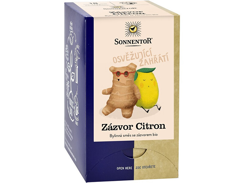 Sonnentor Bio Zázvor Citron 32,4 g