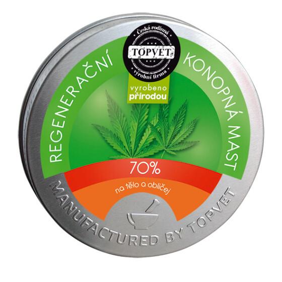 Zobrazit detail výrobku Topvet Regenerační konopná mast 70% 100 ml