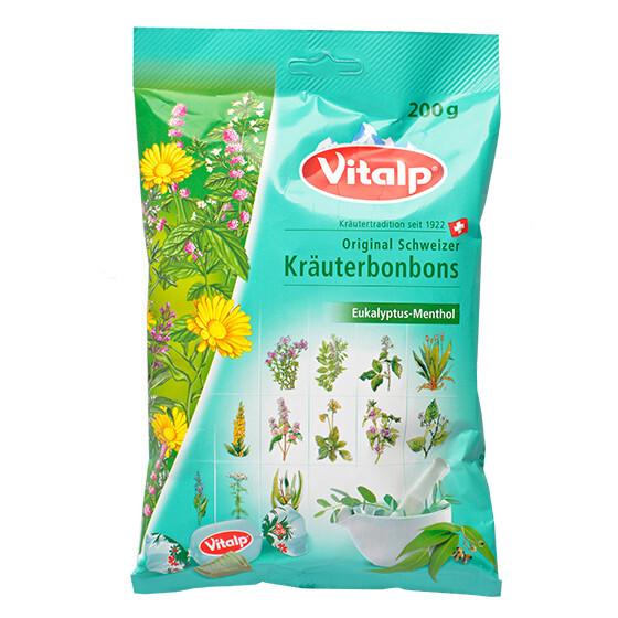 Zobrazit detail výrobku Topvet VITALP bylinné bonbony eukalyptus + mentol 200 g