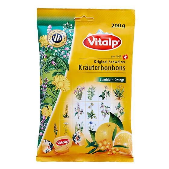 Zobrazit detail výrobku Topvet VITALP bylinné bonbony rakytník + pomeranč 200 g