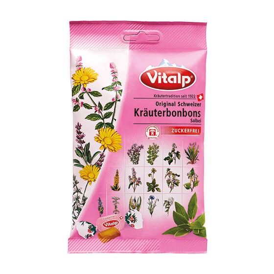 Zobrazit detail výrobku Topvet VITALP bylinné bonbony šalvěj bez cukru 75 g