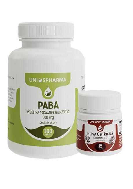 Zobrazit detail výrobku Unios Pharma PABA 100 tbl. + Hlíva 10 tbl. ZDARMA