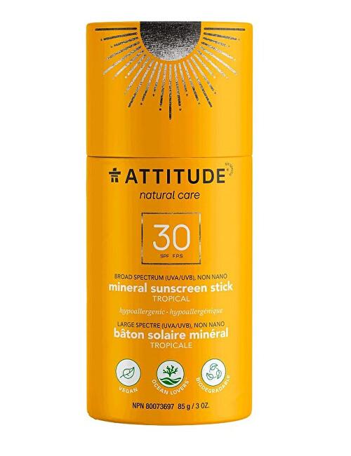 Zobrazit detail výrobku Attitude 100% minerální ochranná tyčinka na celé tělo SPF 30 -  Tropical 85 g