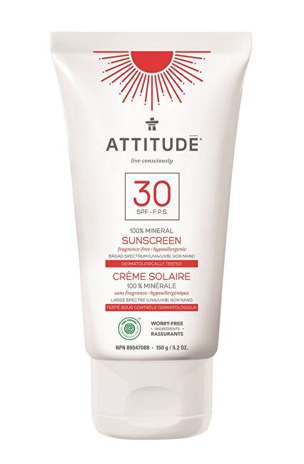 Zobrazit detail výrobku Attitude 100% minerální opalovací krém SPF 30 bez vůně 150 g