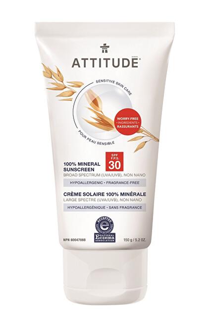 Zobrazit detail výrobku Attitude 100% minerální opalovací krém SPF 30 pro citlivou a atopickou pokožku bez vůně 150 g
