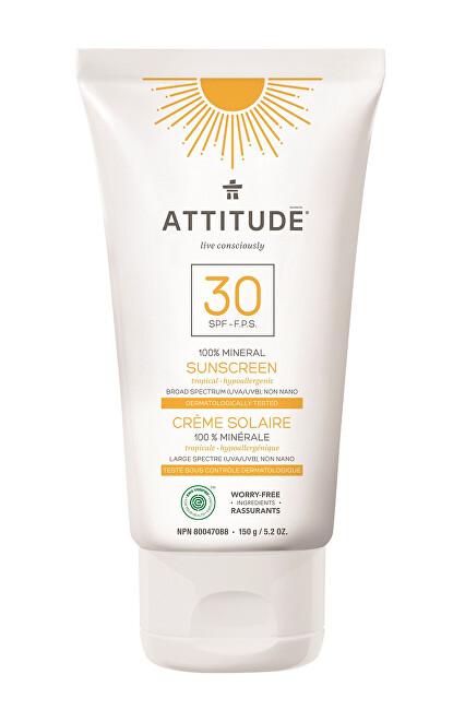 Zobrazit detail výrobku Attitude 100% minerální opalovací krém SPF 30 s vůní Tropical 150 g