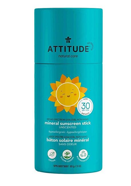 Zobrazit detail výrobku Attitude Dětská 100 % minerální ochranná tyčinka na celé tělo SPF 30 bez vůně 85 g