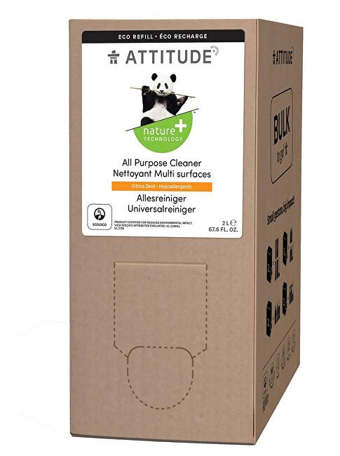 Zobrazit detail výrobku Attitude Univerzální čistič Nature+ s vůní citronové kůry - náhradní kanystr 2 l