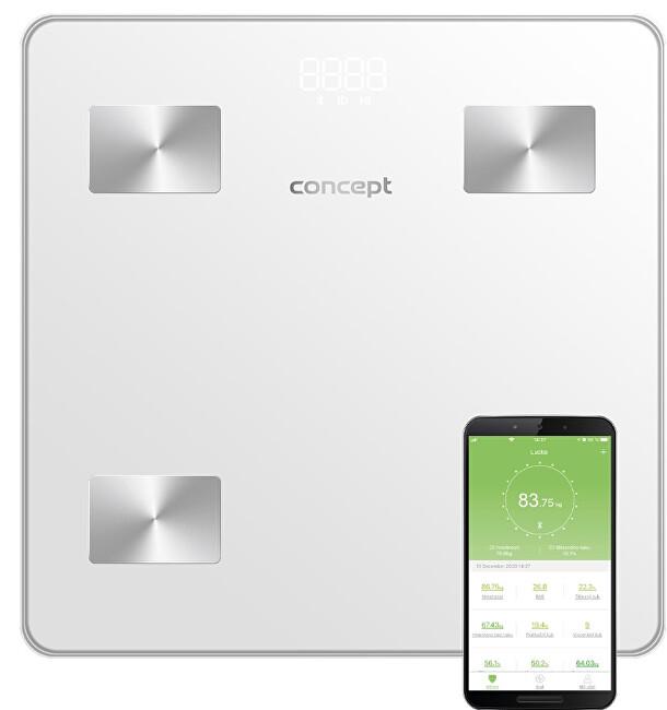 Zobrazit detail výrobku Concept VO4000 Osobní váha diagnostická 180 kg PERFECT HEALTH, bílá