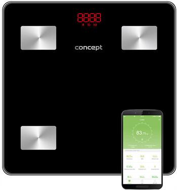 Zobrazit detail výrobku Concept VO4001 Osobní váha diagnostická 180 kg PERFECT HEALTH, černá
