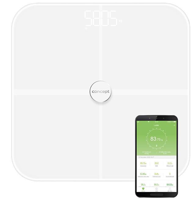 Zobrazit detail výrobku Concept VO4010 Osobní váha diagnostická 180 kg PERFECT HEALTH, bílá
