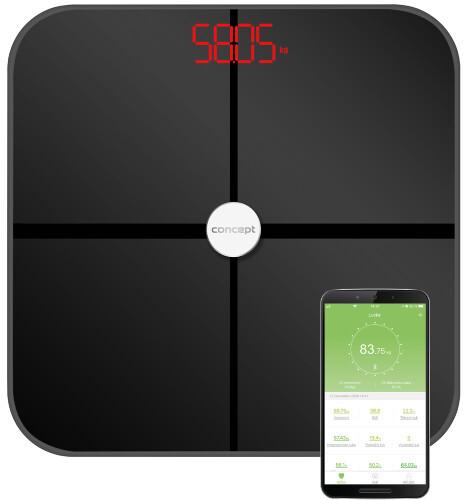 Zobrazit detail výrobku Concept VO4011 Osobní váha diagnostická 180 kg PERFECT HEALTH, černá