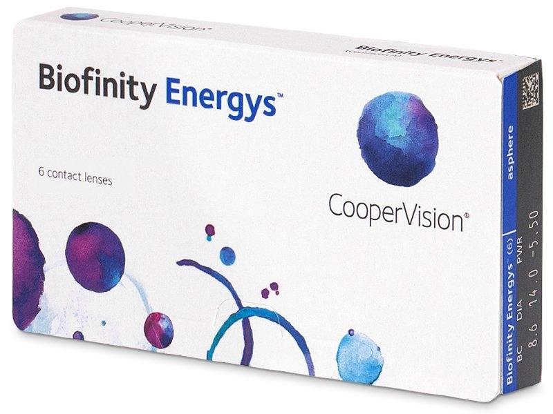 Zobrazit detail výrobku CooperVision Biofinity Energys 6 čoček -5,50