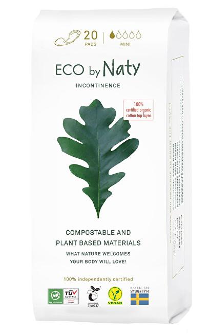 Eco by Naty Dámské ECO inkontinenční vložky Naty - mini (20 ks)