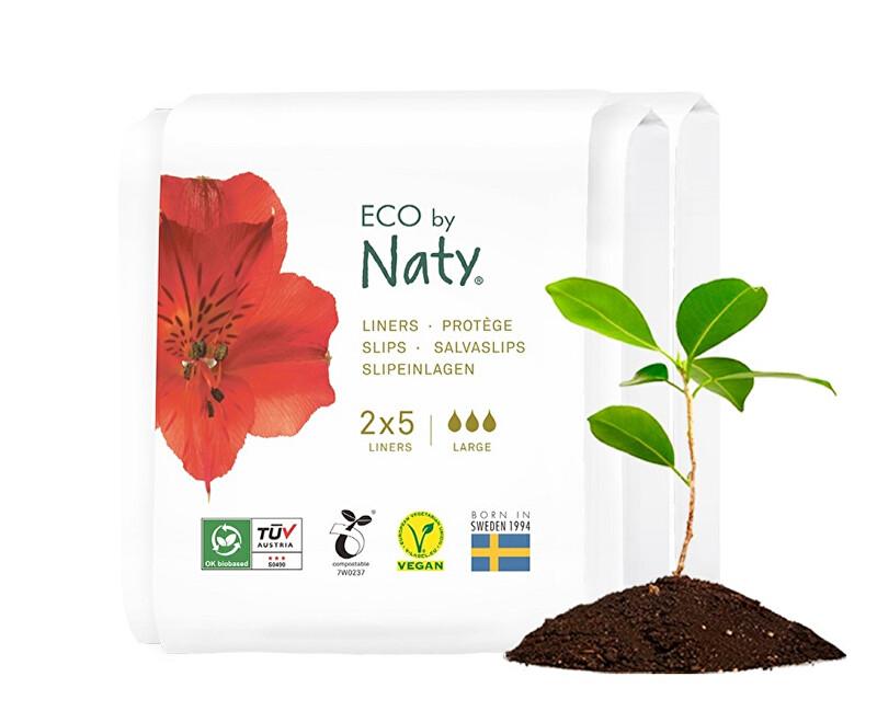Zobrazit detail výrobku Eco by Naty Dámské ECO slipové vložky Naty - super - cestovní balení (2x5 ks)
