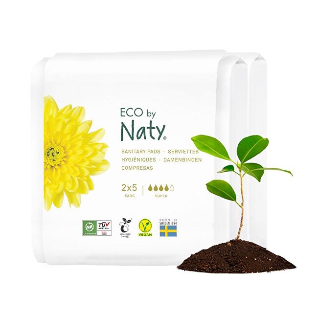 Zobrazit detail výrobku Eco by Naty Dámské ECO vložky Naty - super - cestovní balení (2x5 ks)