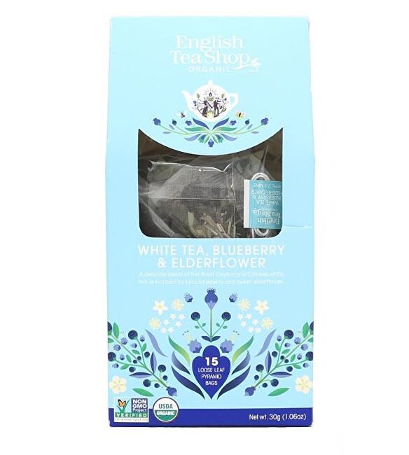 Zobrazit detail výrobku English Tea Shop Bílý čaj, borůvka a bezinka 15 pyramidek sypaného čaje