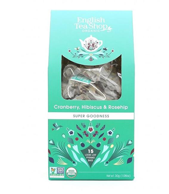 Zobrazit detail výrobku English Tea Shop Brusinka, ibišek a šípek 15 pyramidek sypaného čaje