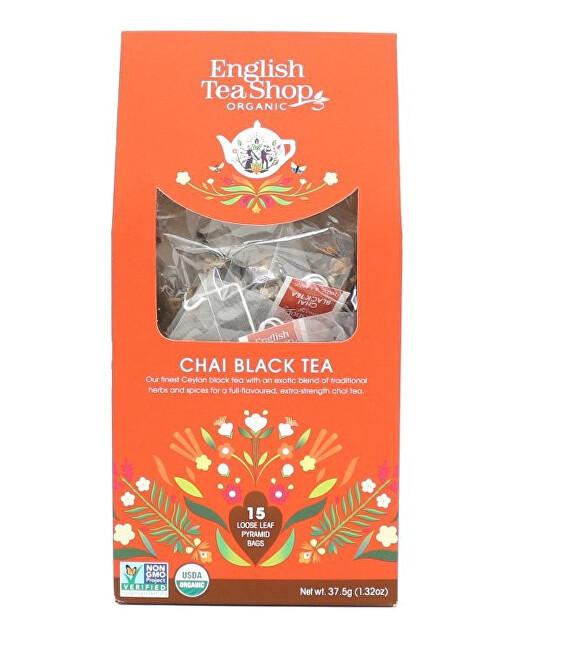 Zobrazit detail výrobku English Tea Shop Černý čaj Chai 15 pyramidek sypaného čaje