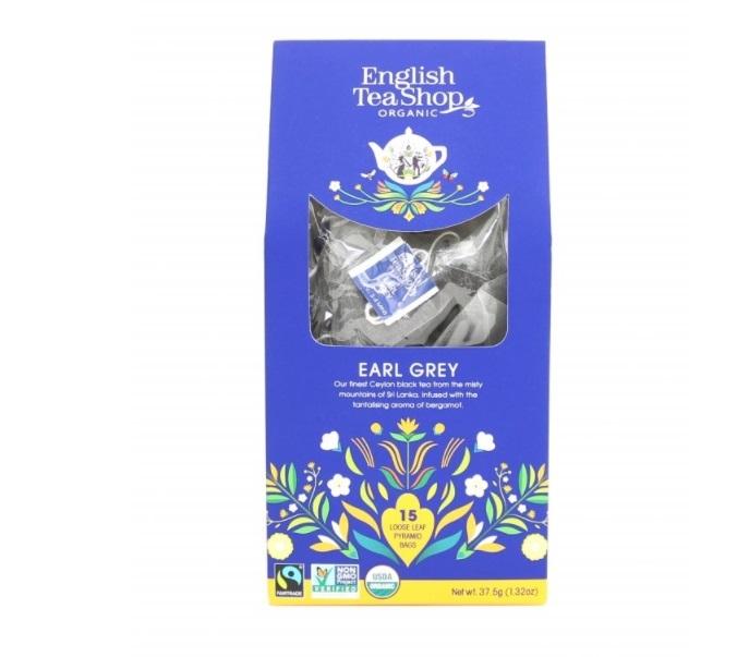 Zobrazit detail výrobku English Tea Shop Černý čaj Earl Grey 15 pyramidek sypaného čaje
