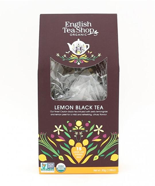 English Tea Shop Černý čaj s citrónem 15 pyramidek sypaného čaje